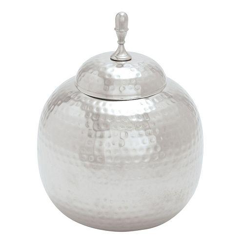 Silver Finish Jar Table Decor