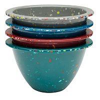 Zak Designs Confetti Fresh 4 pc Prep Bowl Set