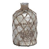 Distressed Glass Bottle Table Decor