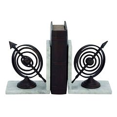 Armillary Sphere Bookends 2 pc Set