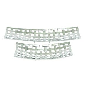 Woven Aluminum Decorative Tray 2-piece Set