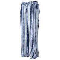 Juniors' Plus Size Joe B Striped Palazzo Pants