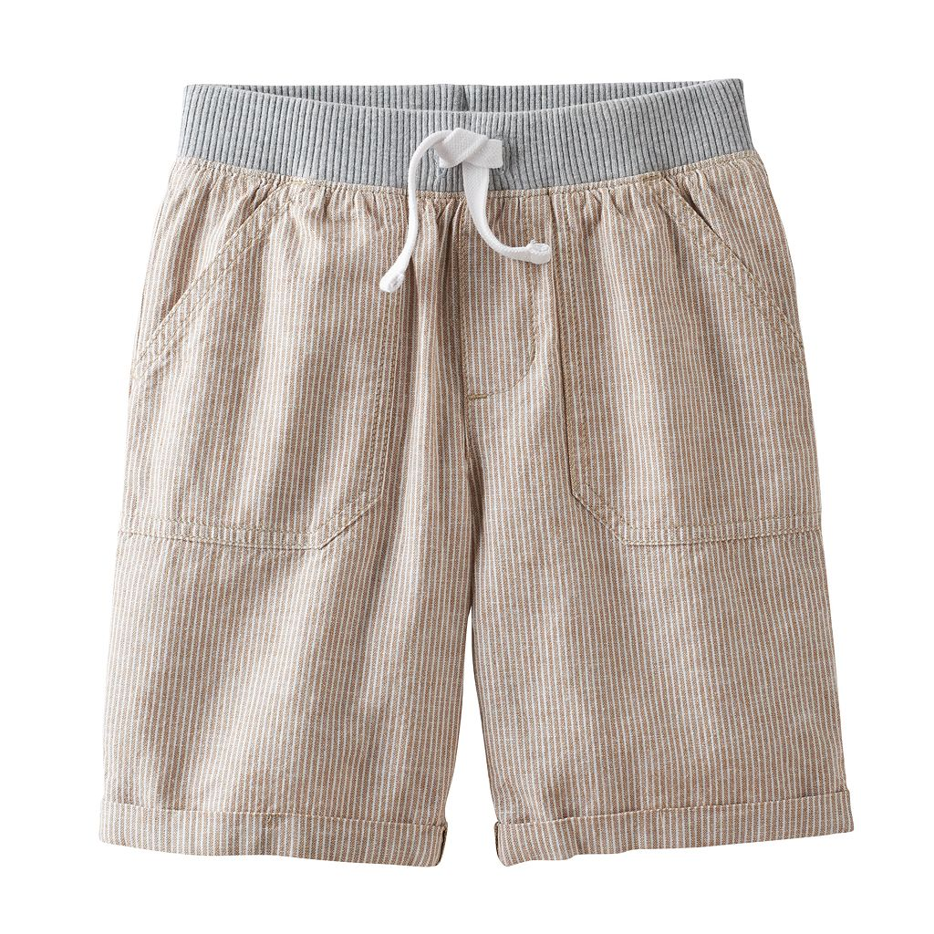 Boys 4-10 Jumping Beans® Linen Rolled Cuff Shorts