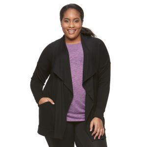 Plus Size Tek Gear® Drop-Shoulder Cardigan
