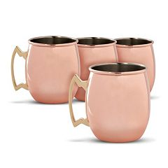 Cambridge 4-pc.. Copper Moscow Mule Mug Set