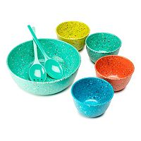 Zak Designs Confetti 7-pc. Salad Bowl Set