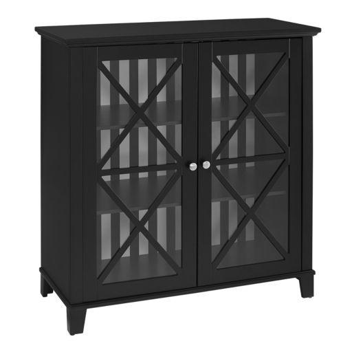 Linon Contemporary 2-Door Storage Cabinet
