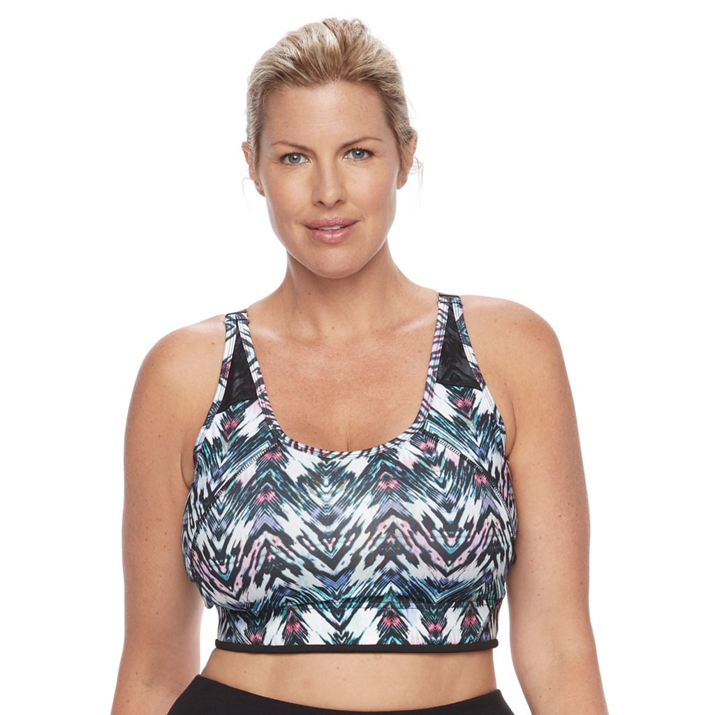 Plus Size Wild Majesty Mesh-Back Sports Bra