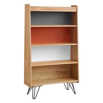 Linon Perry 4-Shelf Multicolored Bookshelf
