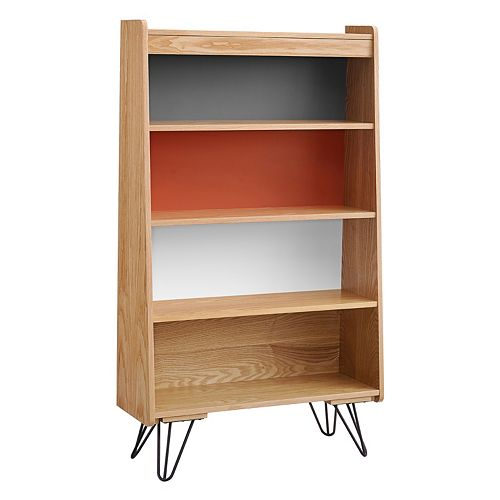 Linon Perry 4-Shelf Multicolored Bookshelf