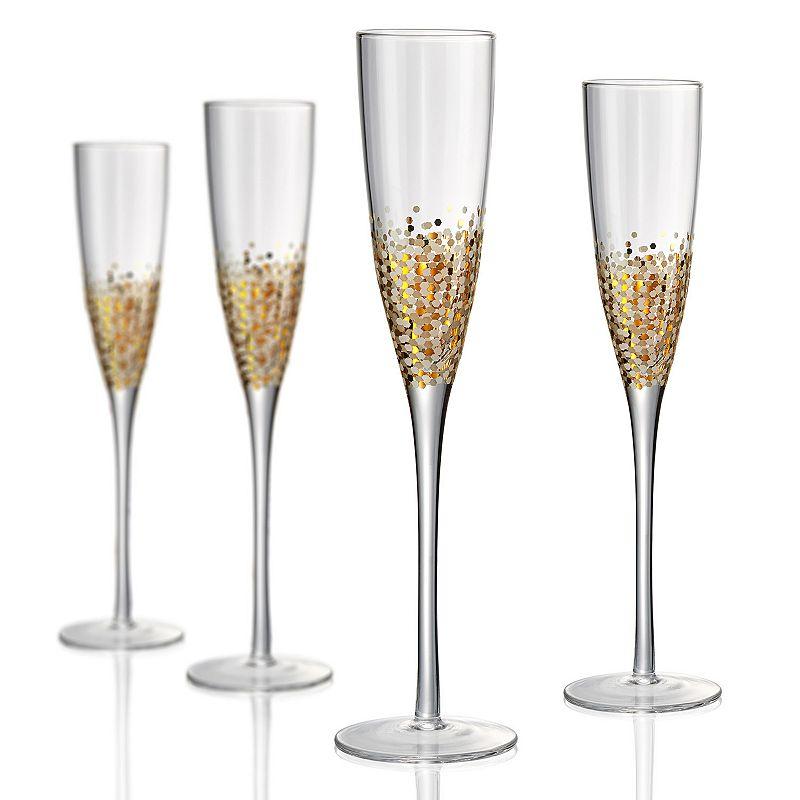 Artland Ambrosia 4-pc. Champagne Flute Set, Multicolor