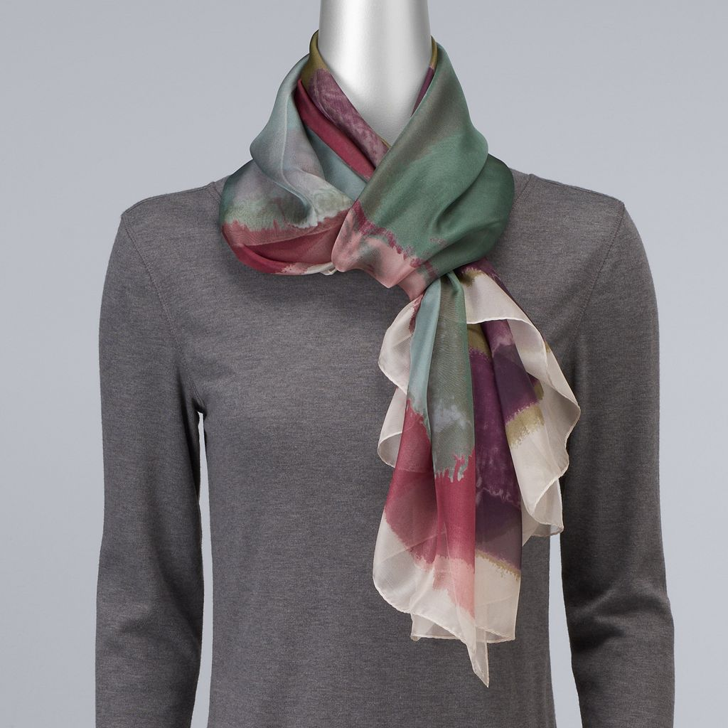 Simply Vera Vera Wang Atlantic Tide Sheer Wrap Scarf