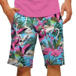 Men's Loudmouth Pink Flamingos Golf Shorts