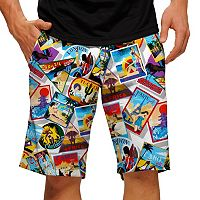 Men's Loudmouth Postcard Golf Shorts
