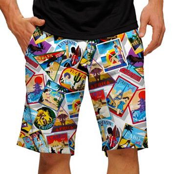 Men's Loudmouth Postcard Golf Shorts