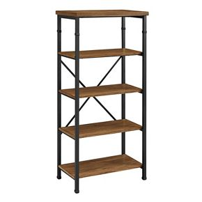Linon Austin 4-Shelf Industrial Bookshelf