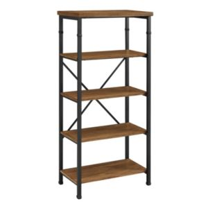 Linon Austin 4-Shelf Industrial Bookshelf