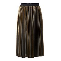 Women's Jennifer Lopez Pleated Metallic Midi Skirt