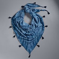 Simply Vera Vera Wang Tie-Dyed Tassel Triangle Scarf