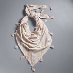 Simply Vera Vera Wang Tie-Dyed Tassel Triangle Scarf