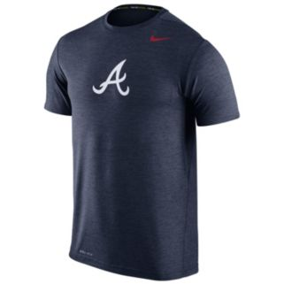 Men's Nike Atlanta Braves Heathered Dri-FIT Tee