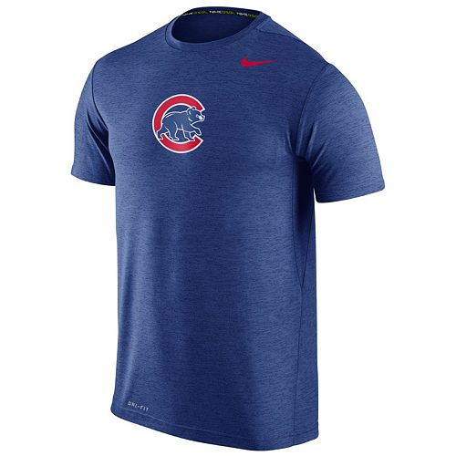 Men's Nike Chicago Cubs Heathered Dri-FIT Tee