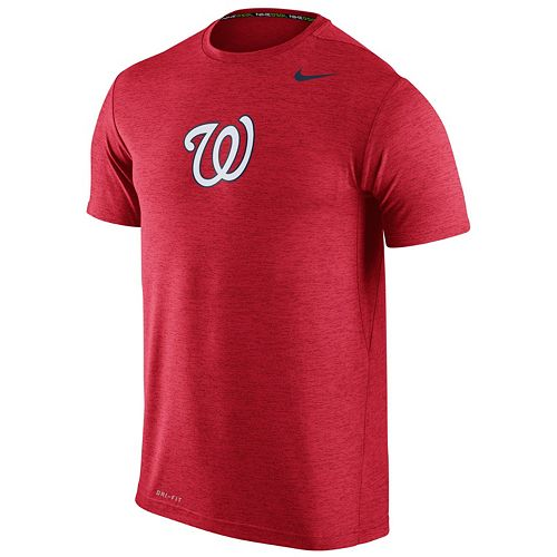 Men's Nike Washington Nationals Heathered Dri-FIT Tee