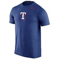 Men's Nike Texas Rangers Heathered Dri-FIT Tee