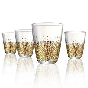 Artland Ambrosia 4- pc. Double Old-Fashioned Glass Set