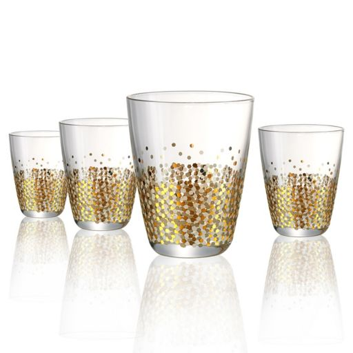 Artland Ambrosia 4- pc. Double Old-Fashioned Glass Set