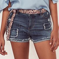 Women's LC Lauren Conrad Ripped Patch Jean Shorts