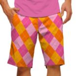 Men's Loudmouth Raspberry SureBet Golf Shorts