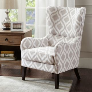 INK+IVY Leda Swoop Wing Back Accent Chair