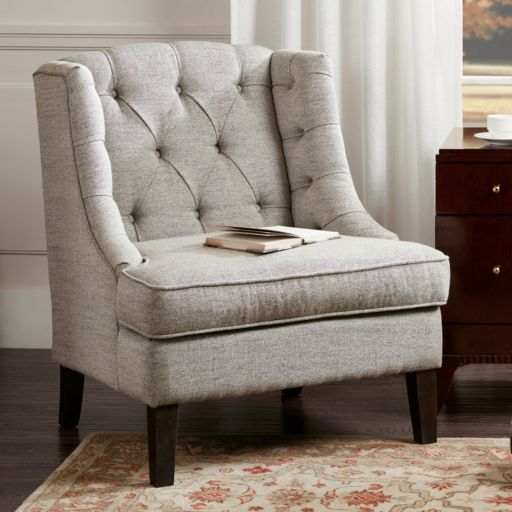 Madison Park Tufted Armless Accent Chair