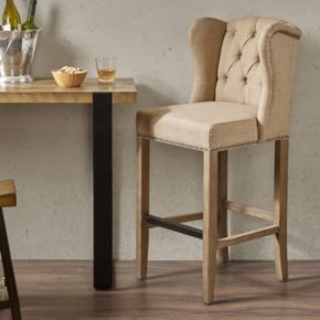 Madison Park Lydia Wing Back Bar Stool