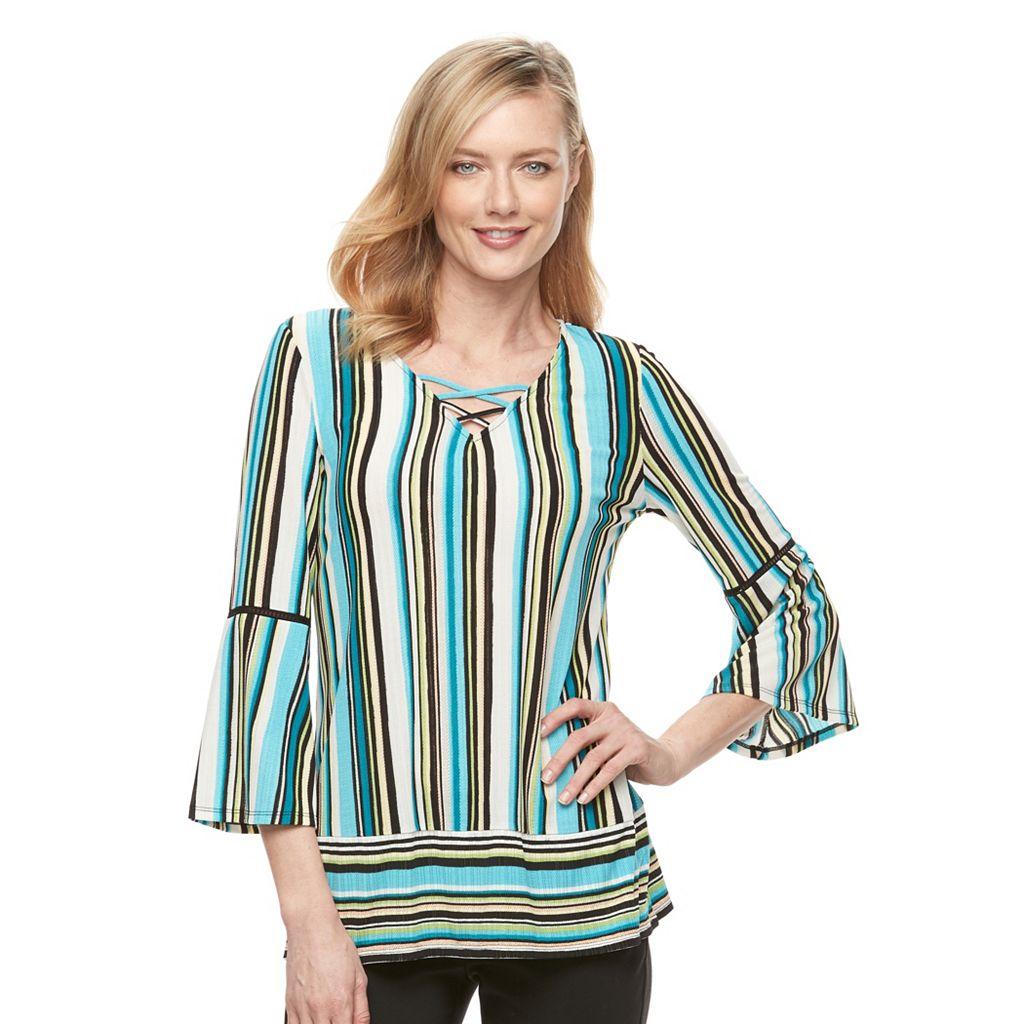 Women's Dana Buchman Shadow-Stripe Top