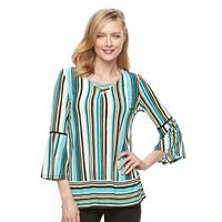 Women's Dana Buchman Shadow-Stripe Top