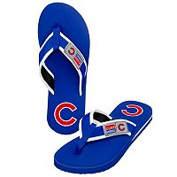 Men's Forever Collectibles Chicago Cubs Locker Label Contour Flip-Flops