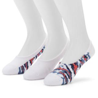 Men's Columbia 3-pack Camo & Solid Liner Socks