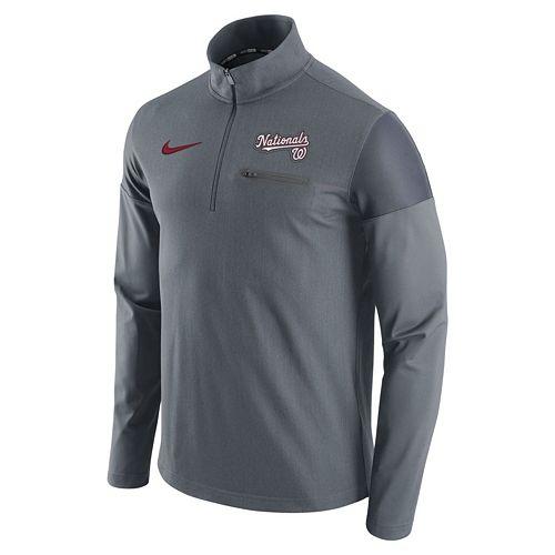 Men's Nike Washington Nationals Elite Half-Zip Pullover