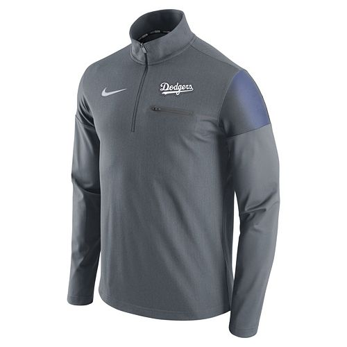 Men's Nike Los Angeles Dodgers Elite Half-Zip Pullover