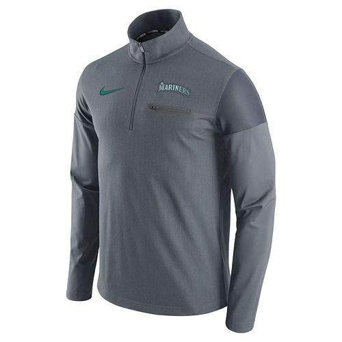 Men's Nike Seattle Mariners Elite Half-Zip Pullover