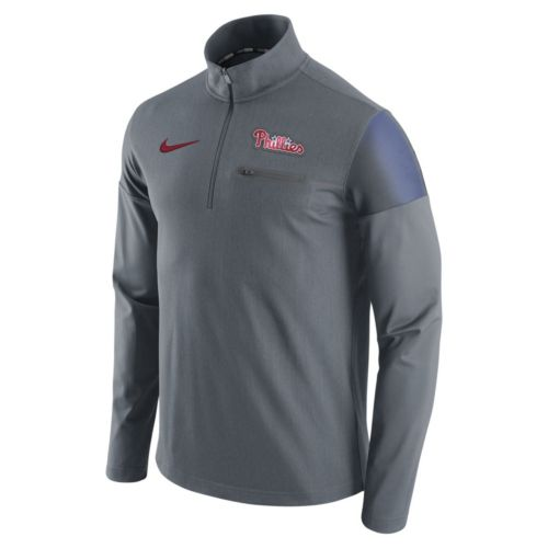 Men's Nike Philadelphia Phillies Elite Half-Zip Pullover