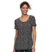 Women's Croft & Barrow® Scoopneck Jacquard Top