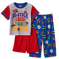 Toddler Boy Justice League Superman, Batman, Flash & Green Lantern 3-pc. Pajama Set