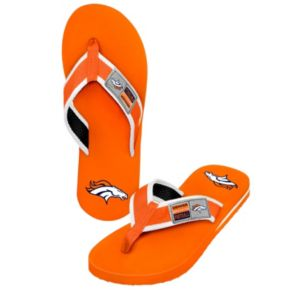 Men's Forever Collectibles Denver Broncos Locker Label Contour Flip-Flops
