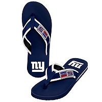 Men's Forever Collectibles New York Giants Locker Label Contour Flip-Flops