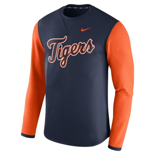 Men's Nike Detroit Tigers Modern Waffle Fleece Sweatshirt