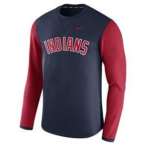 Men's Nike Cleveland Indians Modern Waffle Fleece Sweatshirt