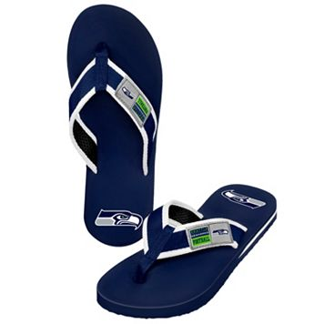 Men's Forever Collectibles Seattle Seahawks Locker Label Contour Flip-Flops